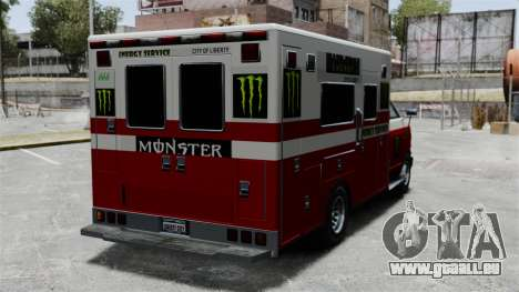 Erste-Hilfe-Monster-Energie für GTA 4 rechte Ansicht