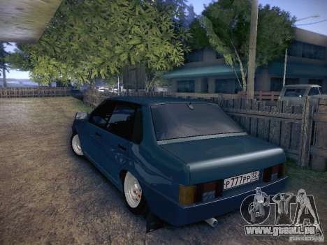 VAZ 21099 für GTA San Andreas zurück linke Ansicht
