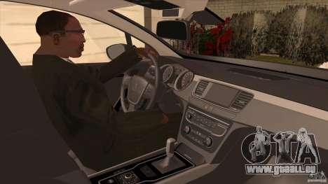Peugeot 508 2011 EU plates pour GTA San Andreas vue intérieure