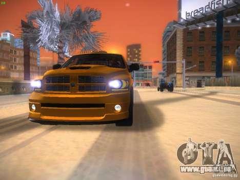 Dodge Ram SRT-10 pour GTA San Andreas sur la vue arrière gauche