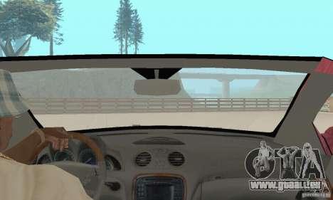 Mercedes-Benz SL500 (R230) pour GTA San Andreas vue intérieure