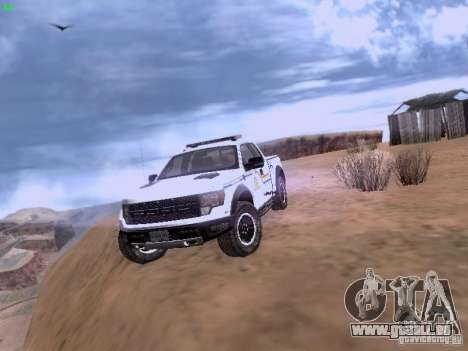 Ford Raptor Royal Canadian Mountain Police pour GTA San Andreas