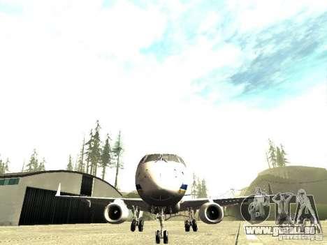 Embraer E-190 für GTA San Andreas Rückansicht