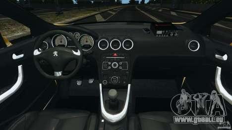Peugeot 308 GTi 2011 Taxi v1.1 für GTA 4 Rückansicht
