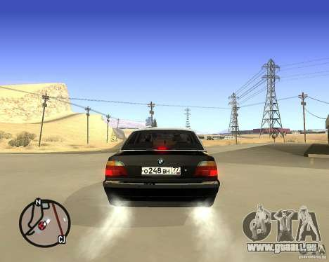 BMW 740il e38 für GTA San Andreas zurück linke Ansicht