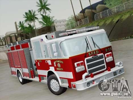 Pierce Pumpers. San Francisco Fire Departament für GTA San Andreas linke Ansicht