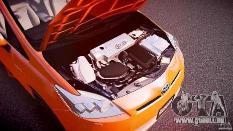 Toyota Prius 2011 pour GTA 4 est une vue de l'intérieur