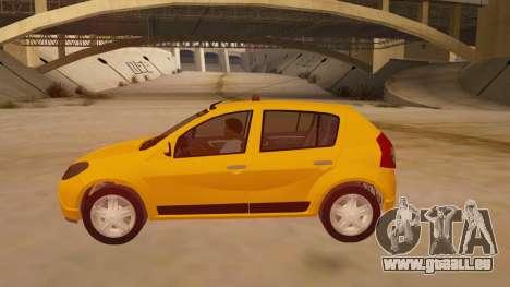 Renault Sandero Taxi pour GTA San Andreas laissé vue