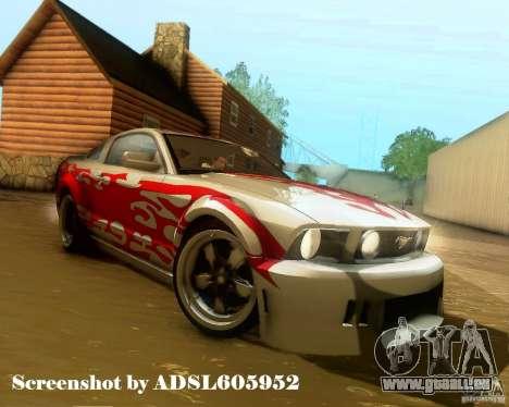 Ford Mustang GT 2005 Tunable für GTA San Andreas Räder