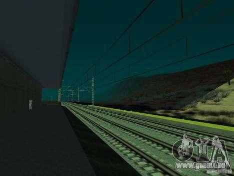Haute vitesse de la ligne de chemin de fer pour GTA San Andreas septième écran