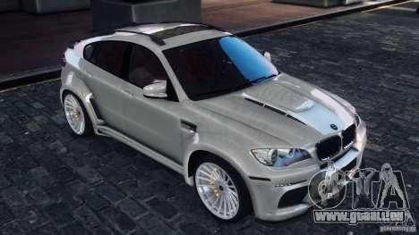 BMW X6 Hamann pour GTA 4 Vue arrière de la gauche