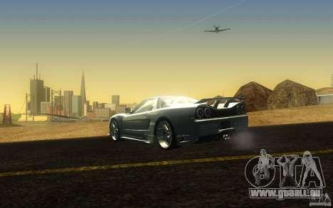 Honda NSX VeilSide Fortune pour GTA San Andreas sur la vue arrière gauche