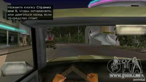 Blick aus der Kabine für GTA Vice City