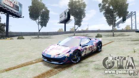 Ferrari 458 Italia 2010 DC Texture pour GTA 4
