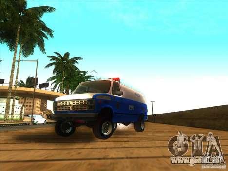 Chevrolet Van G20 BLUE NYPD 1990 für GTA San Andreas