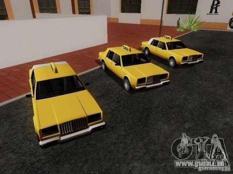 Greenwood Taxi pour GTA San Andreas vue de droite