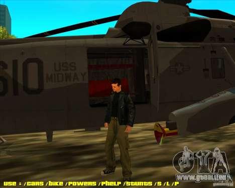 SH-3 Seaking pour GTA San Andreas sur la vue arrière gauche