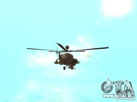 MI 28 Havok pour GTA San Andreas vue intérieure
