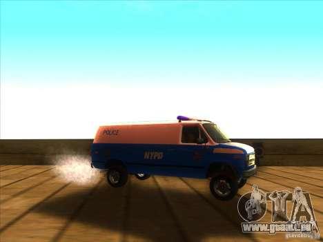 Chevrolet Van G20 BLUE NYPD 1990 für GTA San Andreas rechten Ansicht