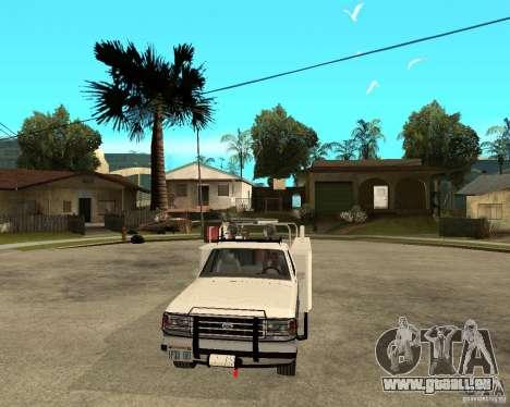Ford F150 1992 Utility Van pour GTA San Andreas vue arrière