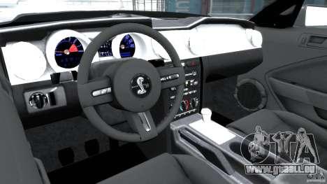 Shelby GT500KR 2008 pour GTA 4 est un droit