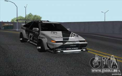 Toyota Corolla AE86 Shift 2 pour GTA San Andreas sur la vue arrière gauche