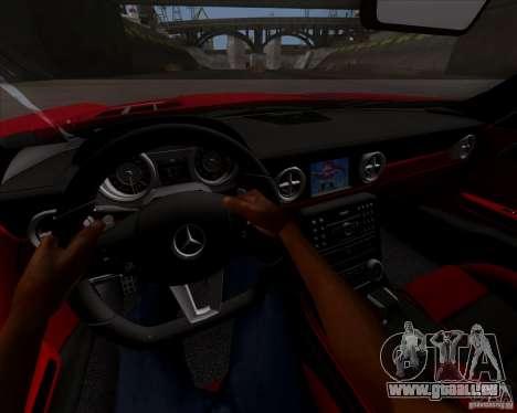 Mercedes-Benz SLS AMG V12 TT Black Revel pour GTA San Andreas vue arrière