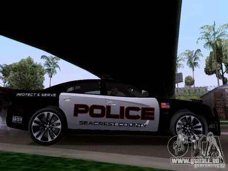 Dodge Charger SRT8 2011 V1.0 für GTA San Andreas zurück linke Ansicht