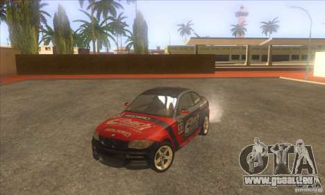 BMW 135i (E82) pour GTA San Andreas vue de dessus