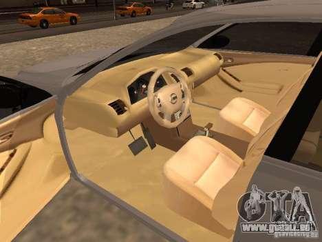 NISSAN ALTIMA pour GTA San Andreas sur la vue arrière gauche