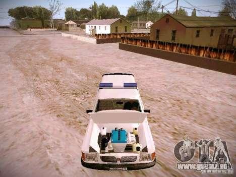 GAZ 310231 Urgent pour GTA San Andreas vue intérieure