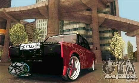 VAZ 2107 voiture Tuning pour GTA San Andreas vue de dessus