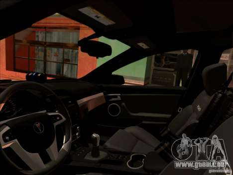 Pontiac G8 Police für GTA San Andreas linke Ansicht