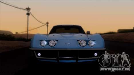 Chevrolet Corvette C3 Stingray T-Top 1969 v1.1 für GTA San Andreas Rückansicht