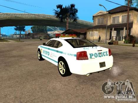 Dodge Charger Police NYPD für GTA San Andreas linke Ansicht