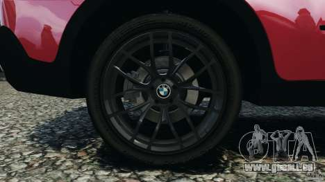 BMW X5 xDrive30i pour GTA 4 vue de dessus