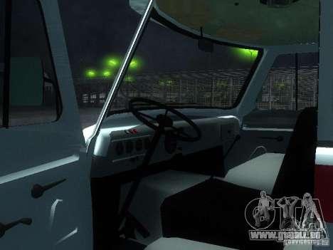 UAZ 3962 ambulance pour GTA San Andreas vue arrière