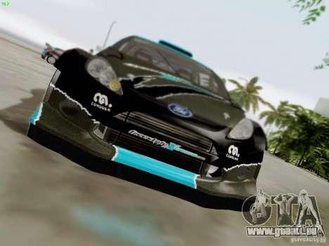 Ford Fiesta RS pour GTA San Andreas vue de dessus