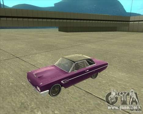 Ford Thunderbird 1964 pour GTA San Andreas sur la vue arrière gauche
