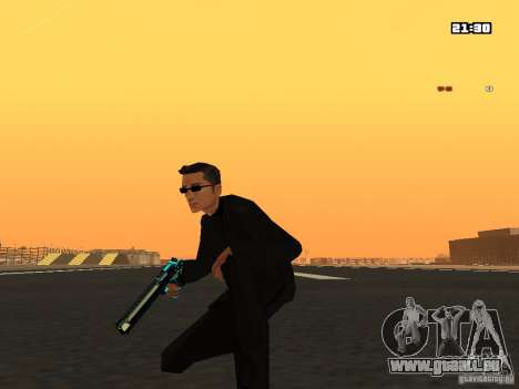 Blue Weapon Pack pour GTA San Andreas