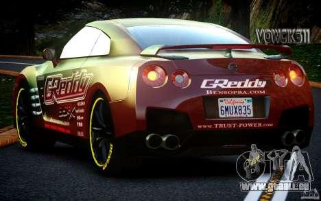 Nissan GT-R Black Edition GReddy für GTA 4 Rückansicht