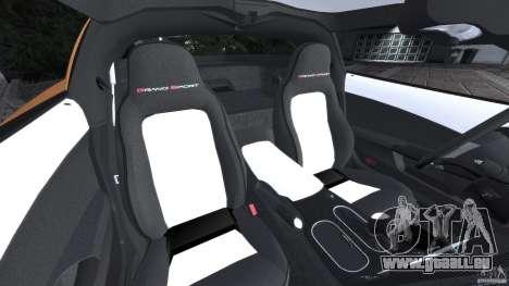 Chevrolet Corvette C6 Grand Sport 2010 für GTA 4 Innenansicht