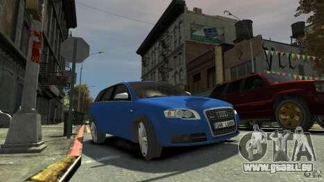 Audi S4 Avant pour GTA 4 Vue arrière de la gauche
