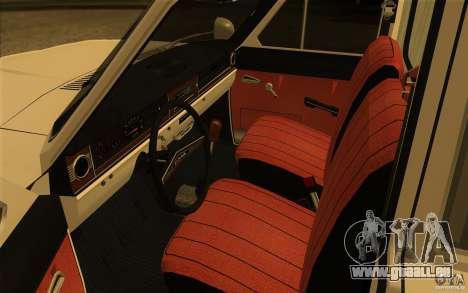 Ambulance Volga GAZ-24 03 pour GTA San Andreas vue arrière