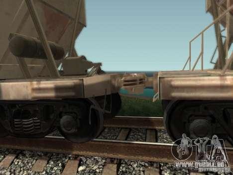 Trémie de ciment pour GTA San Andreas sur la vue arrière gauche