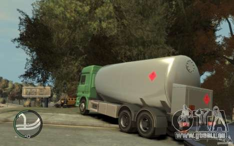 Mercedes Benz Actros Gas Tanker pour GTA 4 vue de dessus