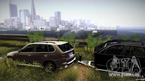 BEAM X5 Trailer pour GTA San Andreas vue de droite