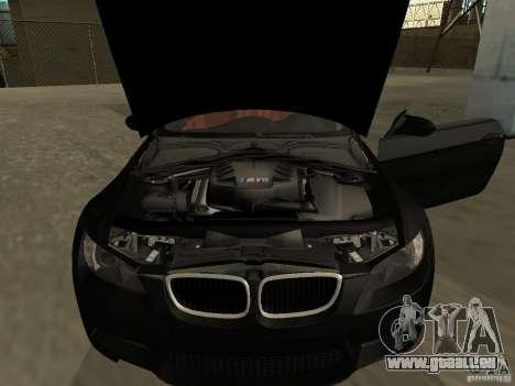 BMW M3 E92 Tunable pour GTA San Andreas sur la vue arrière gauche