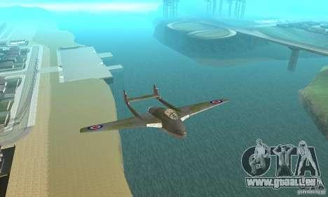 De-Havilland-Vampire ver 2.0 pour GTA San Andreas vue intérieure