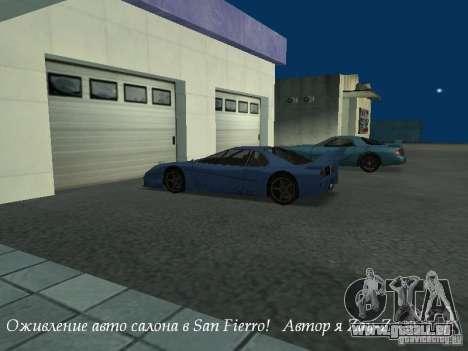 Showroom de travail à San Fierro v1 pour GTA San Andreas